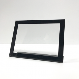 Display A5 horizontal con borde negro